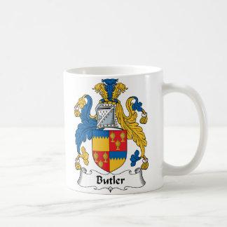 Butler Family Crest Basic White Mug