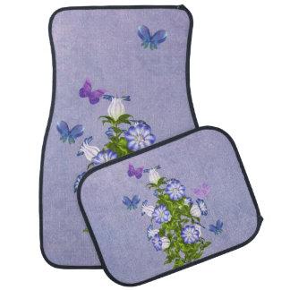 Butterflies and Bell Flowers Floor Mat