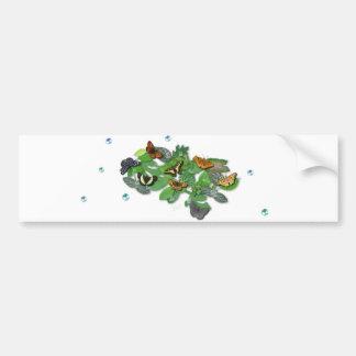 Butterflies with sheets, rain drop, beads bumper sticker