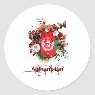 Butterfly Afghanistan Round Sticker