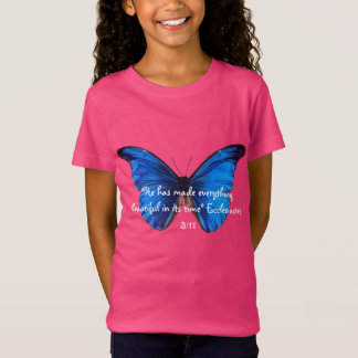 Butterfly design with Ecclesiastes bible verse T-shirt