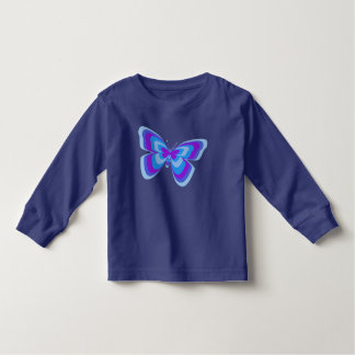 Butterfly in blue & purple t shirt