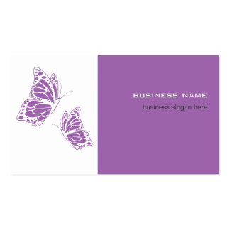 Butterfly Violet & White Elegant Modern Simple Pack Of Standard Business Cards