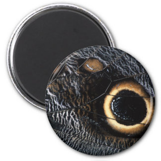 butterfly wing 6 cm round magnet
