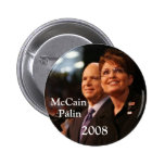 button6, McCain, Palin, 2008 - Customised 6 Cm Round Badge