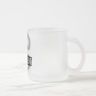 C is for Caden Frosted Glass Mug