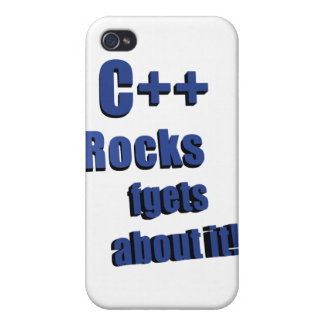 C++ Rocks FGet About It iPhone 4/4S Case