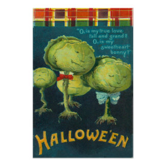 Cabbage Lettuce Creature Monster Science Fiction Poster