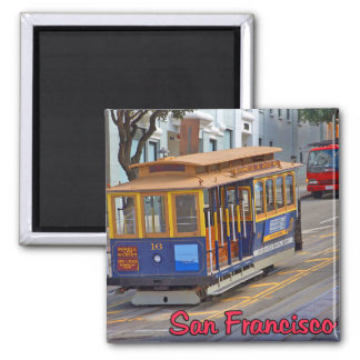 Cable Car in San Francisco Square Magnet