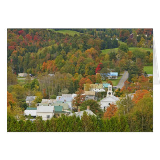 Cabot, Vermont in fall. Northeast Kingdom. Greeting Card