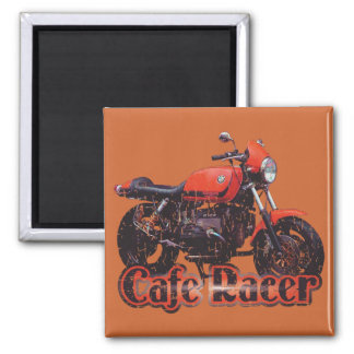 Cafe Racer Motorcycle Square Magnet