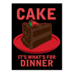 Cake, It's What's For DInner Postcard