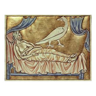 Caladrius bird, reputed to foretell postcard