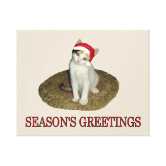 Calico Kitten's Season's Greetings Gallery Wrapped Canvas