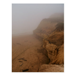 California Coastline in Fog Postcard