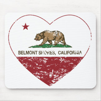 california flag belmont shores heart distressed mouse pad