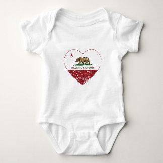 california flag hollister heart distressed tee shirt