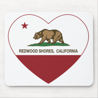 california flag redwood shores heart mouse pad