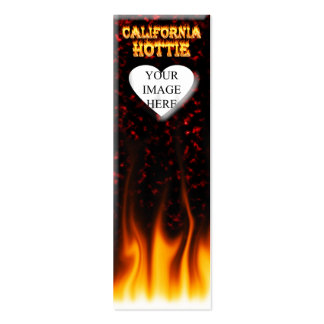 California hottie fire and flames design. pack of skinny business cards