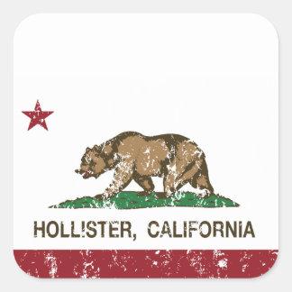 California State Flag Hollister Square Sticker