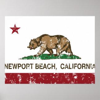 California State Flag Newport Beach Poster