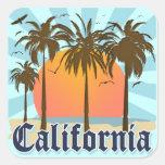 California Vintage Souvenir Square Sticker
