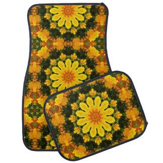 Californian Poppies Nature, Flower-Mandala Floor Mat