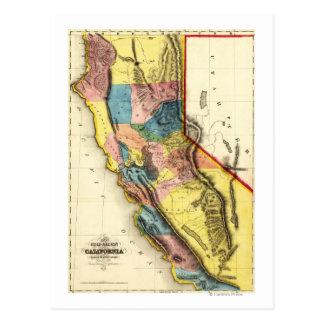 CaliforniaPanoramic Map Postcard