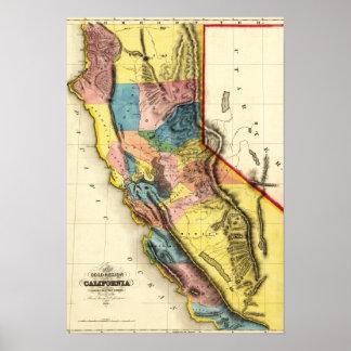 CaliforniaPanoramic Map Poster