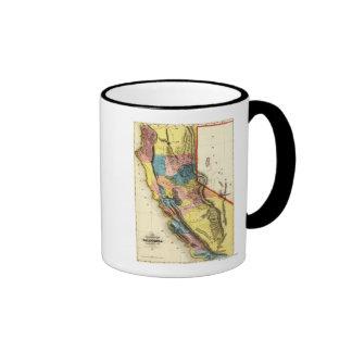 CaliforniaPanoramic Map Ringer Mug
