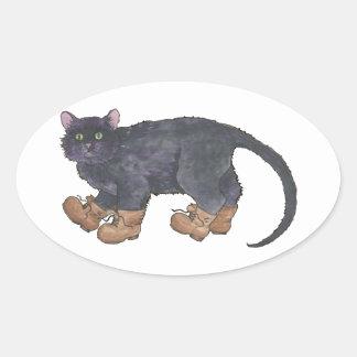 Caligula (Little Boots) Oval Sticker