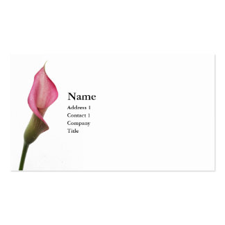 Calla Lily Pack Of Standard Business Cards