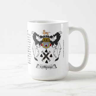 Callaway, the Origin, the Meaning and the Crest Basic White Mug