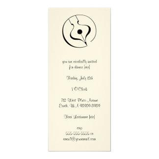 Calligraphic Fountain Pen 10 Cm X 24 Cm Invitation Card