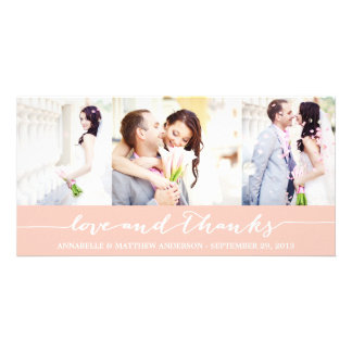 CALLIGRAPHY COLLAGE | WEDDING THANK YOU PHOTO CARD