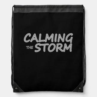 Calming the Storm Title Drawstring Bag