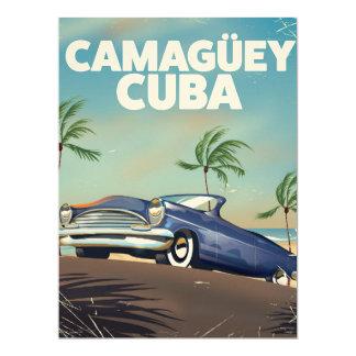 Camagüey Cuban vintage travel poster 17 Cm X 22 Cm Invitation Card