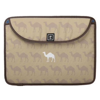 Camel patterned sleeve on brown background sleeves for MacBook pro