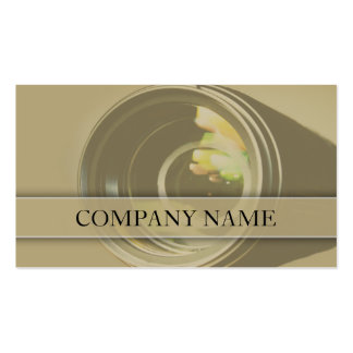 Camera Lens Photography Pack Of Standard Business Cards