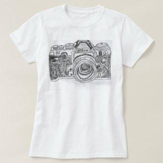 Camera Line Drawing Tshirt