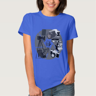 Camera Time Collage T Shirts
