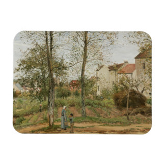 Camille Pissarro - Houses at Bougival Rectangular Photo Magnet