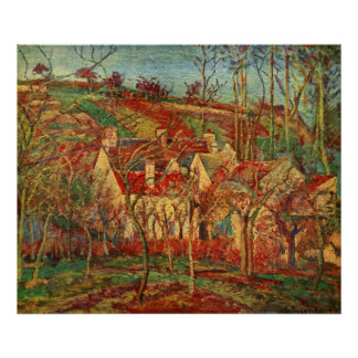 Camille Pissarro - Red Roofs 1877 Oil Canvas house Poster