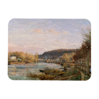 Camille Pissarro - The Seine at Bougival Rectangular Photo Magnet