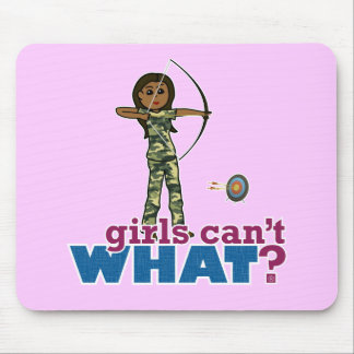 Camouflage Archery Girl - Dark Mouse Pad