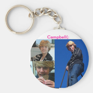 Campbell Carsley Basic Round Button Key Ring