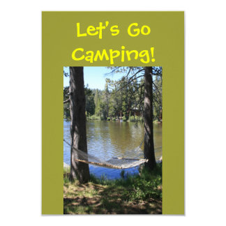 Camping Double Sided Invitation