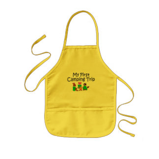 Camping My First Camping Trip Kids Apron