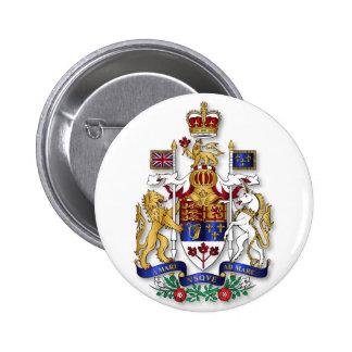 Canada coat of arms 6 cm round badge