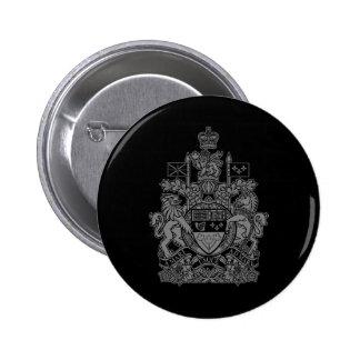 Canada Coat of Arms - Canada Crest 6 Cm Round Badge